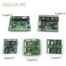 Mini komisji budowania pokoju moduł przełączający komisji budowania pokoju OEM moduł mini rozmiar 3/4/5 porty przełączniki sieciowe Pcb pokładzie mini ethernet moduł przełączający 10/100 mb/s