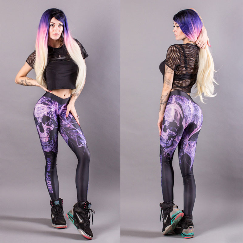 Fitness Leggings South Africa: Sexy Yoga Printing Sport Legging Pants For Shemales