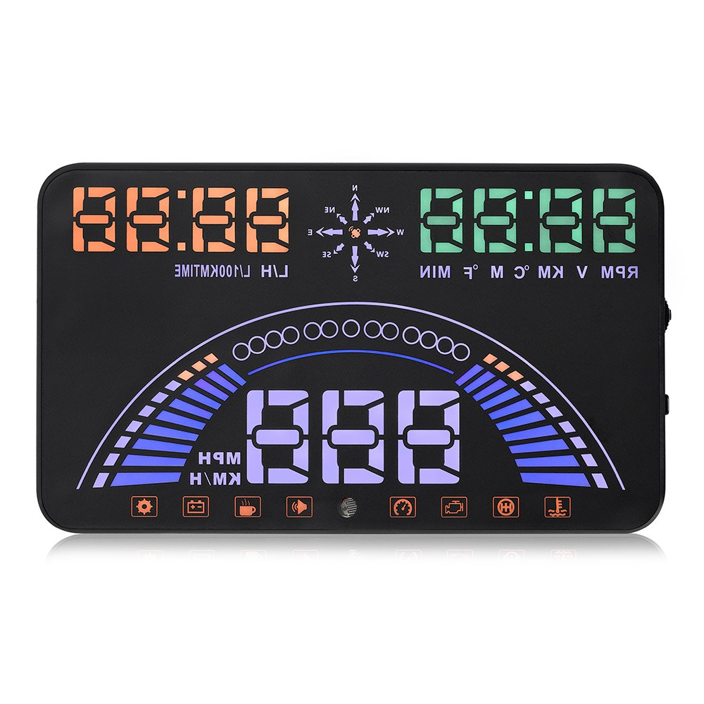 021f5c9b12d S7 Auto Car 5.8 Polegada GPS HUD Head Up Display Sistema de Alarme de Falha  Do Motor Dinâmico de Velocidade de Interface OBDII Universal Head-up HUD