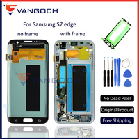Original Super Amoled LCD Screen Touch Digitizer Assembly For Samsung Galaxy S7 Edge G935 G935f G935fd