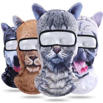 ICESNAKE Motorcycle 3D Animal Ear Balaclava Full Face Mask Bicycle Hats Snowboard Winter Warmer Cat Dog