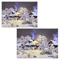 Neve paisagem casa decoração 5d diy pintura diamante resina praça broca de diamante de corte de diamante bordado needlework