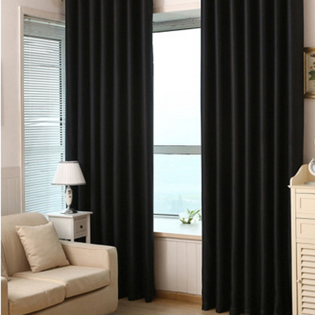 Bedroom Curtains black bedroom curtains : Aliexpress.com : Buy Black Solid Ready Made Window shade Curtain ...