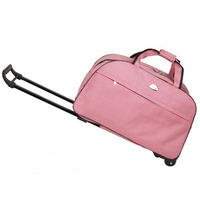 Luggage Metal Trolley Suitcase on Wheels Valise Bagages Roulettes Hand Trolley Unisex Bag Sac Board Package Dots Pink Duffle Bag