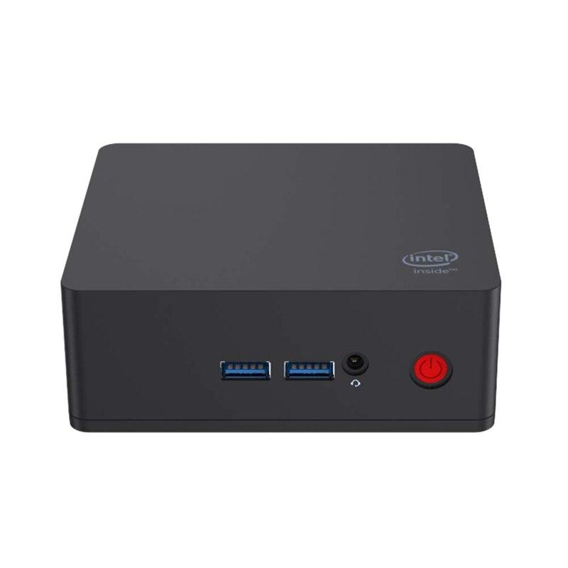 AP35 Mini pc de bureau Windows 10 Multimédia D'ordinateur de Bureau 4 GO Ram Lpddr4 64 GO Emmc Intel Apollo Lake Processeur Celeron J3355