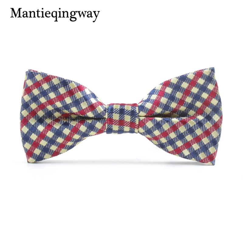 Mantieqingway Brand Children Bowties Polyester Bowtie Tuxedo Ties Boys Candy Striped Bow Tie Accessories Neckwear Red Ties