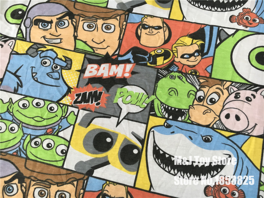 50 175cm toy story nemo knitted cotton fabric for sewing for Children s jersey fabric