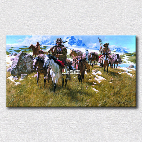 The host of grass field pictures high quality canvas arts for friends gift or home wall decoration