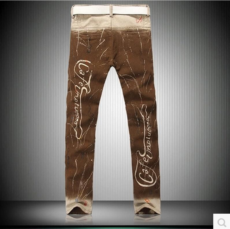 b8c04d76521881 2016 Men the painted rock music house nightclub male choka personality jeans  pants singer costumes-in Jeans from Men's Clothing on Aliexpress.com    Alibaba ...
