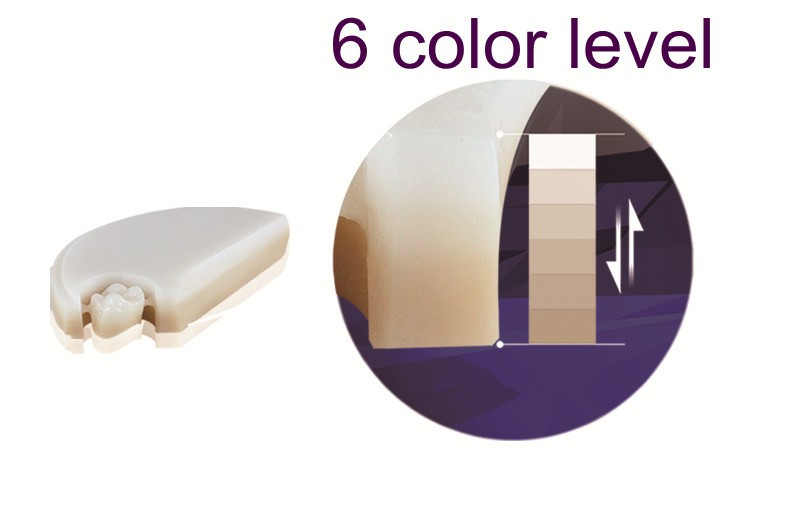 6 krāsu slāņu zobu priekšējais cirkonijs Zirkon Zahn CAD CAM - Mutes higiēna - Foto 2