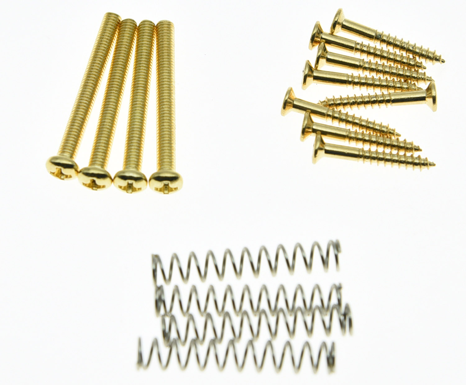 KAISH Gold Humbucker Pickup Height Screws Kit Pickup Ring Surround Mounting Screws niko 50pcs chrome single coil pickup screws