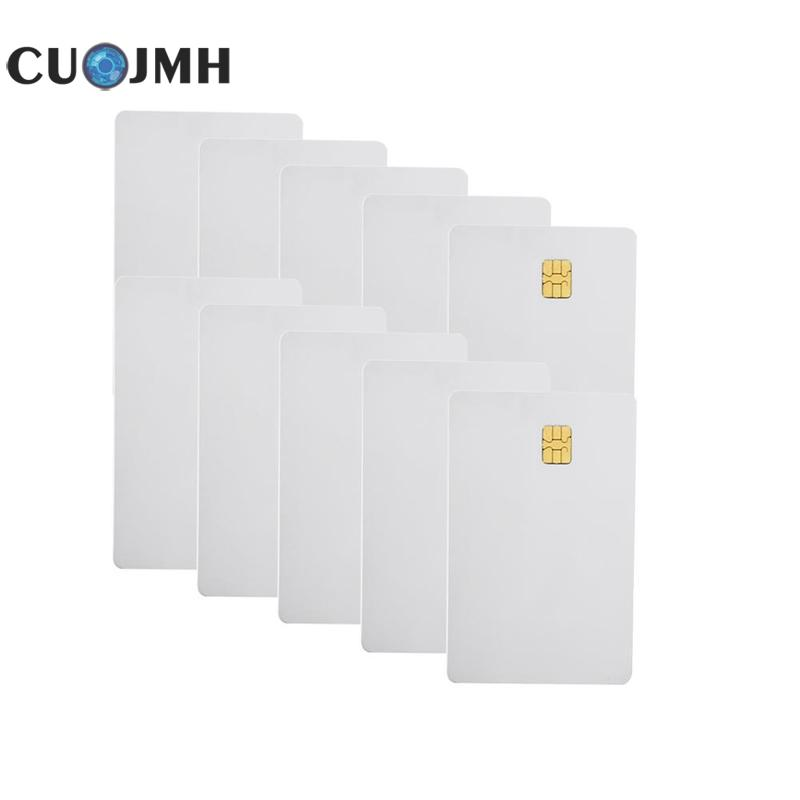 10 Pcs/set Ic Card Driver Identification Card Contact 4442 Small Chip Pvc Smart Ic Card White Smart Card