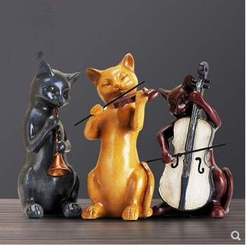 Creative music cat crafts, European home decorations, home office restaurant desktop furnishings, beautiful gifts