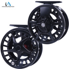 Maximumcatch DX 5/6/7/8WT Aluminum Fly Reel Right and Left-handed Fly Fishing Reel Black Color Fishing Reel