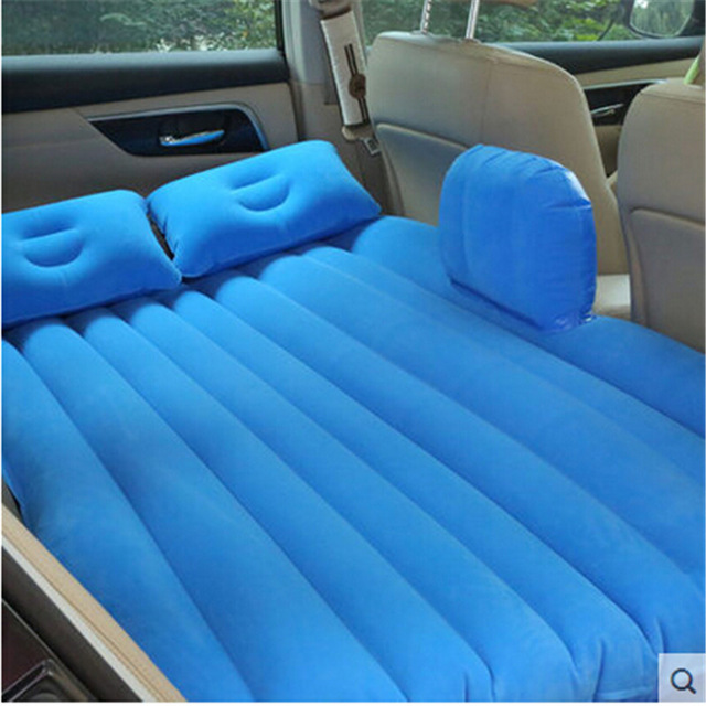 (blue) waterproof hot sale Universal Car Travel Inflatable <font><b>Mattress</b></font> Car Inflatable Bed Air Bed Cushion Thickening