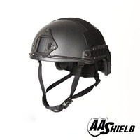 AA Shield Ballistic ACH High Cut Tactical Teijin Helmet Color BK Bulletproof FAST Aramid Safety NIJ Level IIIA Military Army