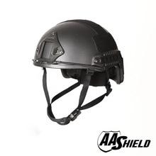 AA Shield Ballistic ACH High Cut Tactical Kevlar Helmet Color BK Bulletproof FAST Aramid Safety NIJ Level IIIA  Military Army