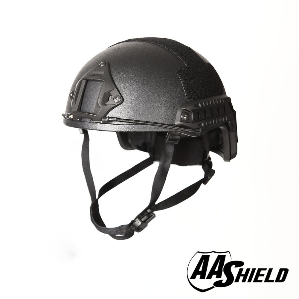 AA Shield Ballistic ACH High Cut Tactical Teijin Helmet Color BK Bulletproof FAST Aramid Safety NIJ Level IIIA Military Army