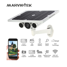 IP Camera Wifi 4G LTE Wireless Network 1080P Solar Power Surveillance Camera Built-in Battery P2P Onvif Outdoor SIM Card Slot