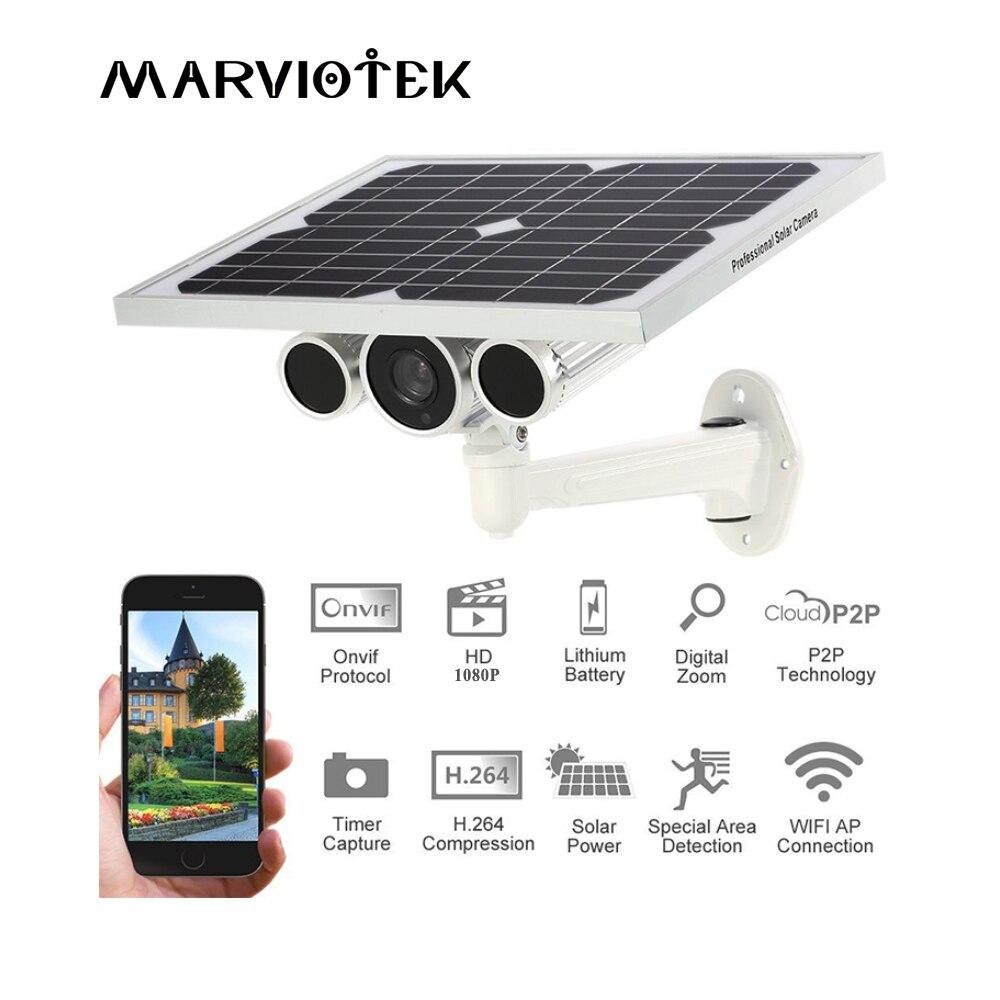 Macchina Fotografica del IP di Wifi 4G LTE Wireless di Rete 1080 P di Energia solare di Sorveglianza Macchina Fotografica Built-In Batteria P2P Onvif Esterna SIM slot Per scheda di