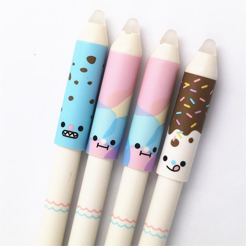 M G 12pcs lot Kawaii Cute Erasable Pen Erasable Pens with eraser Gel ink Pen 0