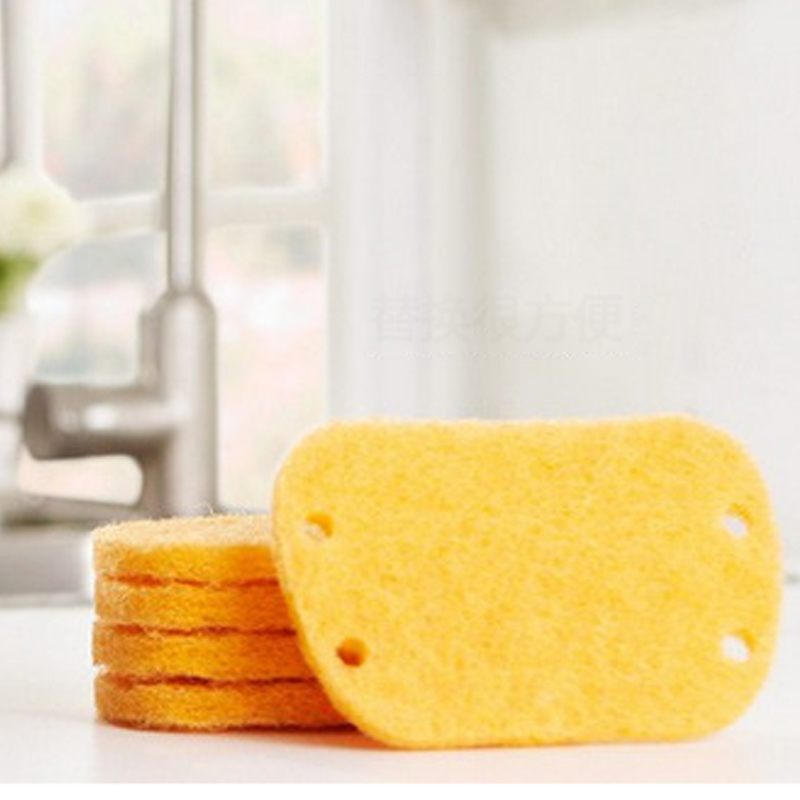 High Quality Yellow High Efficient Anti Grease Dish Cloth Microfiber  Washing Towel Magic Kitchen Cleaning Scouring Pad 5pcs