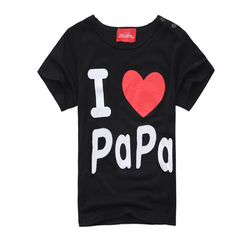 Fashion-Design-Summer-Thin-Short-Sleeve-Simple-Letter-Love-Mom-and-Dad-Baby-Cotton-Short-Sleeved-T-shirt-TST0015-2