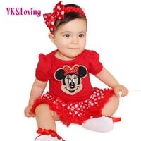 2Pcs NewBorn Baby Clothes Autumn Winter Similar Carters Baby Rompers Next Kids Infant Clothes Sets Minnie