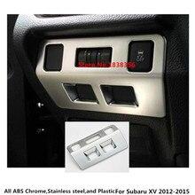 Top Per Subaru XV 2012 2013 2014 2015 auto rilevatore di bastone styling copertura ABS Chrome frontale testa interruttore della luce trim lampada telaio 1 pcs