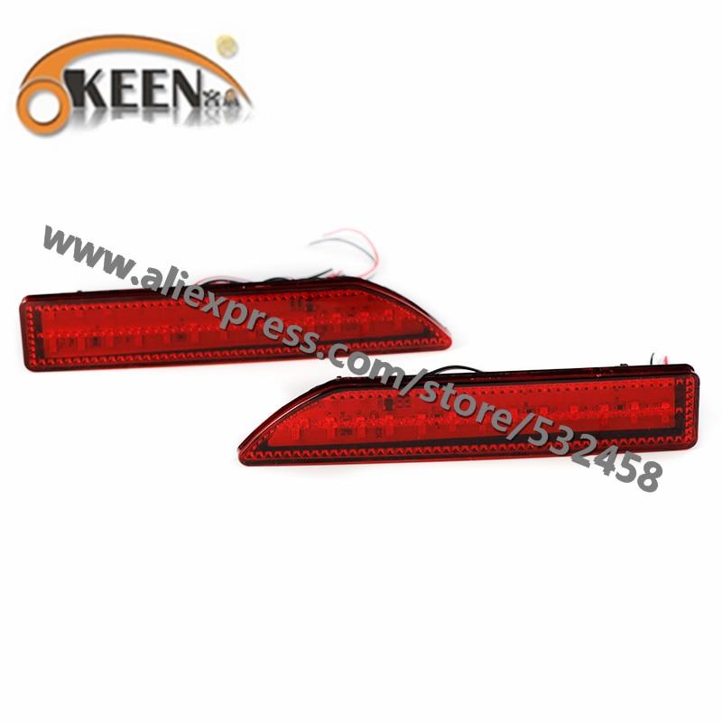 OKEEN Brand Automobiles Rear Lihgts Car Led Light Bar Tail Rear Bumper Reflector Lights Parking Lights For 2009 Honda CRV