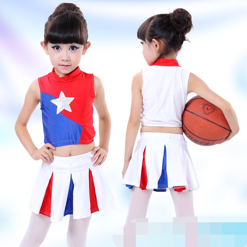 Sleeveless Boys Girls Dance Costume Cheerleader Costume Modern Dance Costumes Cheerleader Costume Boys Girs School Uniforms