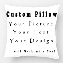 Custom Throw Pillow Case Print with Your Pictures Texts Designs Photos Unique DIY Throw Pillowcase Personalized Cushion Cover