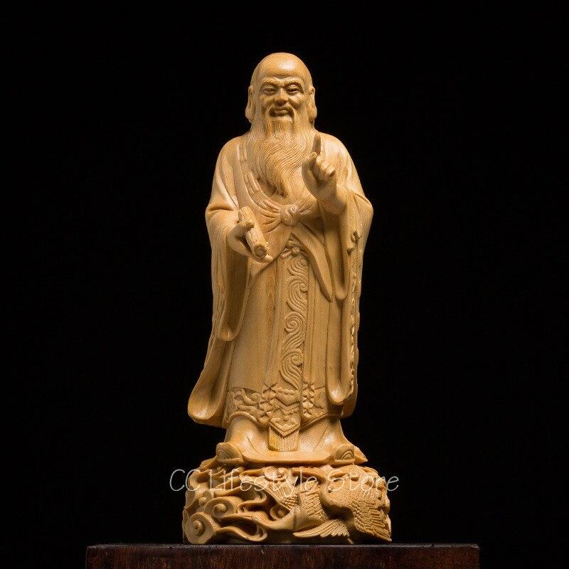 Китайский философ; Latinized название Kongfuzi Конфуций Статуя Будды резного дерева комнаты деревянные резные статуи для украшения