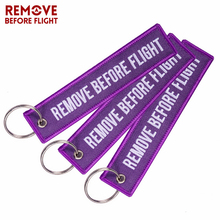 Car Keychain Embroidery Key Fobs OEM Motorcycles Rings Tag REMOVE BEFORE FLIGHT key holder for Aviation lover 3PCS/LOT