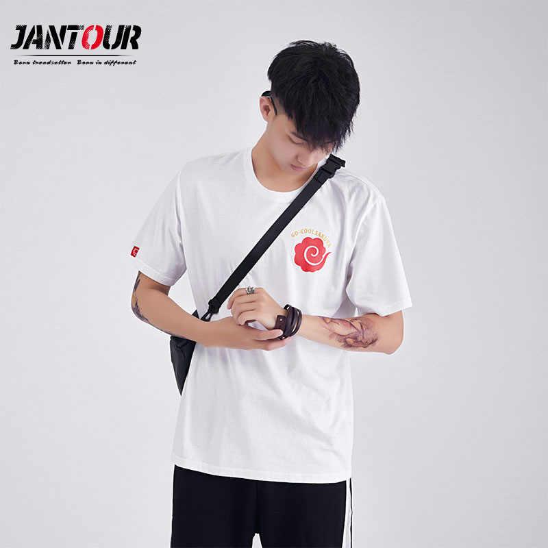 Jantour 2019 новая мужская футболка Goku футболка с коротким рукавом и круглым вырезом Мужская Летняя мода Vegeta Harajuku брендовая одежда футболка мужская