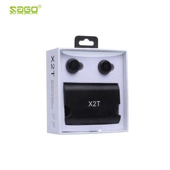 2017 Sago bluetooth наушники X2T наушники мини истинные Беспроводные наушники с зарядным устройством Bluetooth 4,2 наушники для iphone android