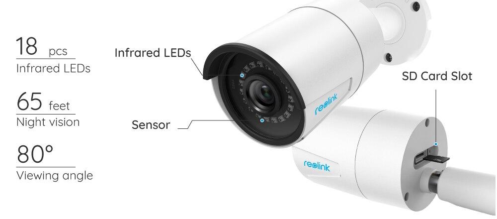 HTB1bjrlCeuSBuNjSsplq6ze8pXaV Reolink PoE ip camera SD card slot 5MP HD Outdoor Waterproof Infrared 30m Night Vision Security Video Surveillance RLC-410-5MP