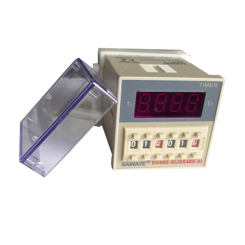 CE DH48S-S Digital Timer Time Delay Relay 220V DC 0.1S - 99H 8 Pins With Base Socket dc 12v led display digital delay timer control switch module plc automation new