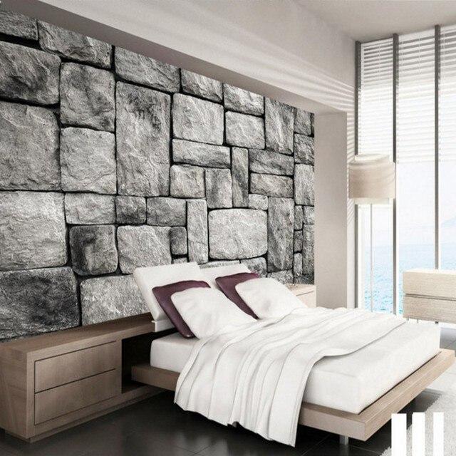 Individuelle Fototapeten Eigene Tapete Wandbild Grau Europäischen Stil  Retro Stein Ziegel Zimmer Hintergrund Wanddekoration