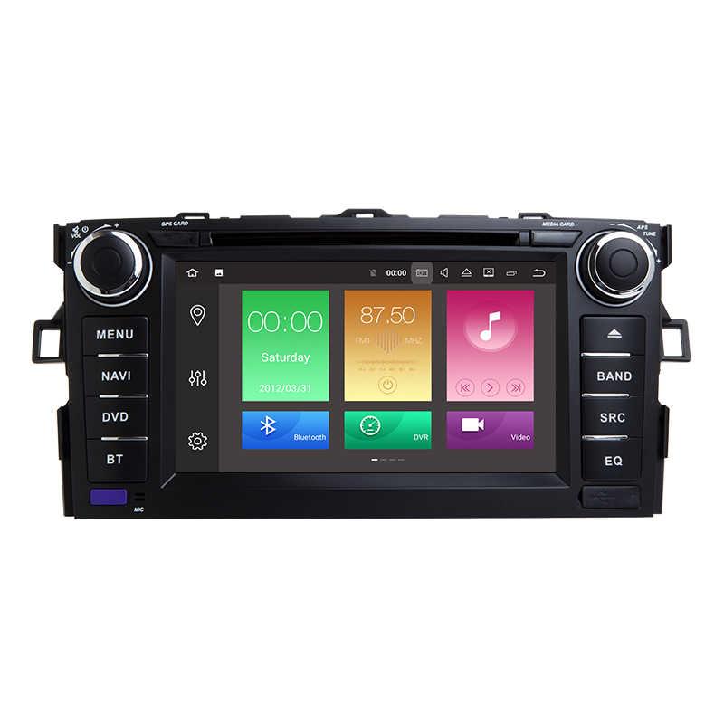 Android 8,0 ips экран Радио автомобильный стерео DVD мультимедийный плеер gps навигация для TOYOTA/AURIS/Altis/COROLLA 2012 2013 wifi OBD