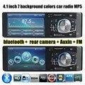 4.1 polegada de tela HD Câmera Traseira Apoio MP4 Player 12 V de Áudio Estéreo rádio Do Carro Do Bluetooth/mãos livres com controlador da roda de direcção