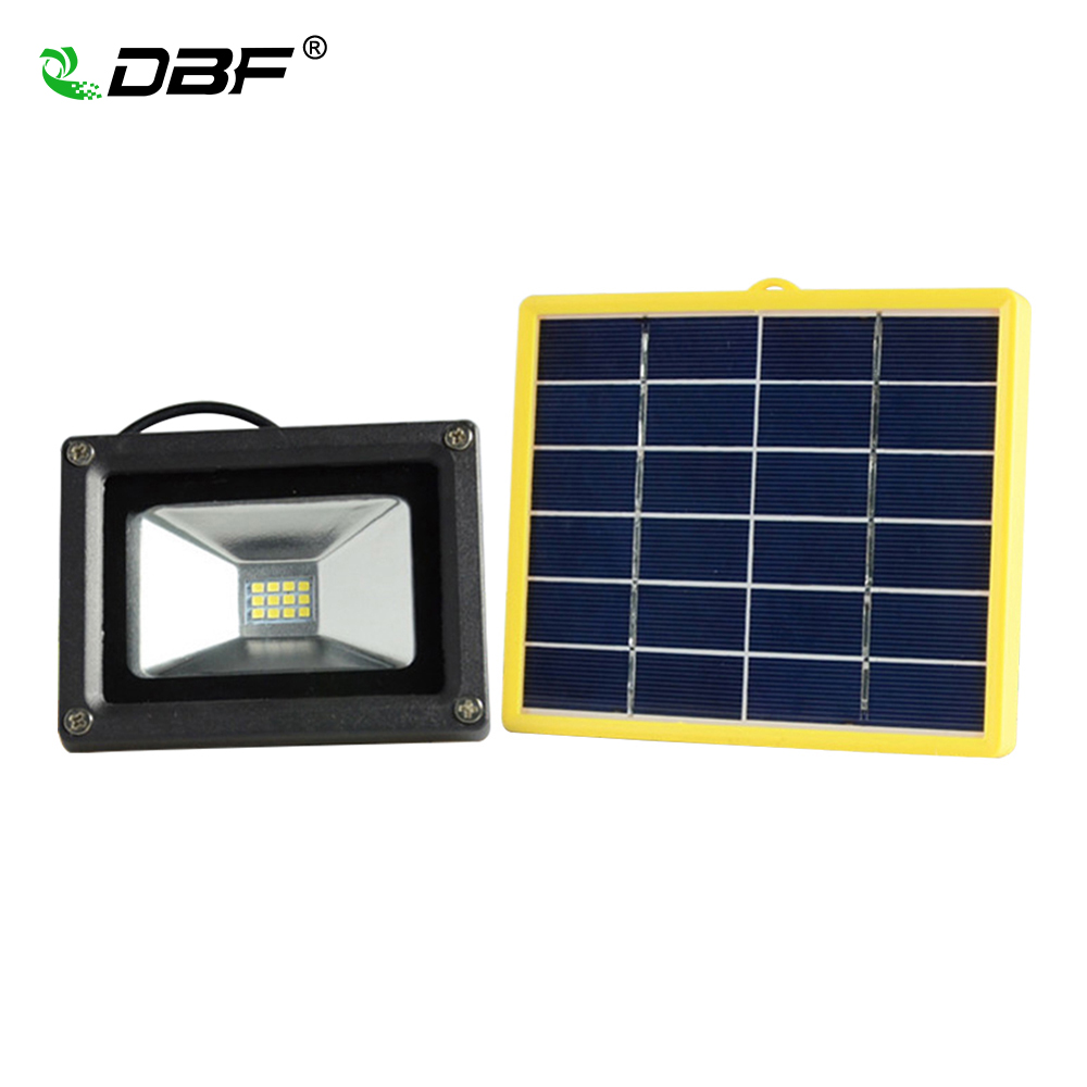 Waterproof 10W Solar powered Outdoor LED Floodlight Portable SpotLights with 5M wire+2200mA battery for LED outdoor Garden lamp