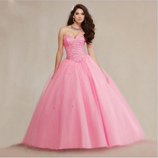 2017 Sweet 16 Dresses Plus Size Formal Pageant Masquerade Ball Gowns