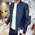 2017 new arrival men's spring autumn stand collar casual jacket outerwear men's clothing jacket outerwear male plus size M-5XL
