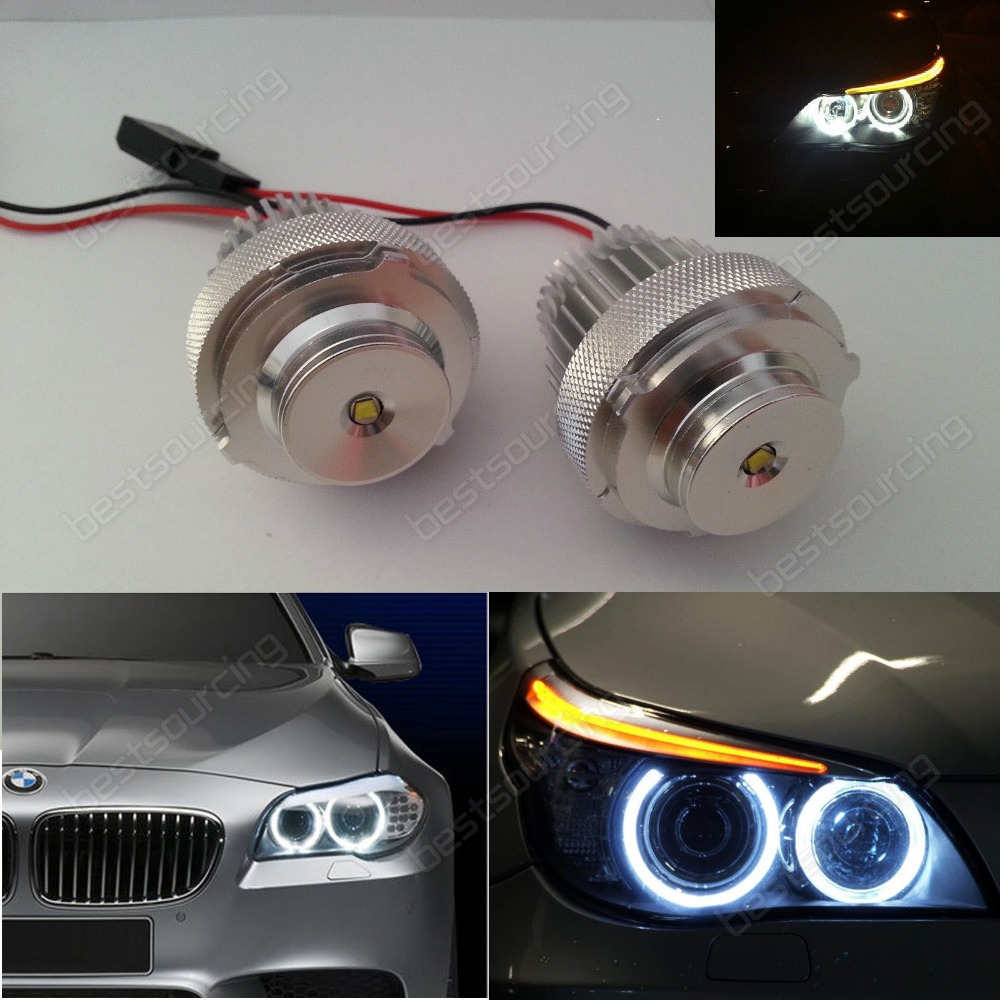 20W  High Power LED Angel Eye Bulbs For BMW E60 E61 LCI Halogen Trim(CA197)