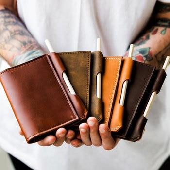 Couverture de Notes de champ en cuir-Journal en cuir/portefeuille de voyage carnet de Notes en cuir cadeau personnalisé