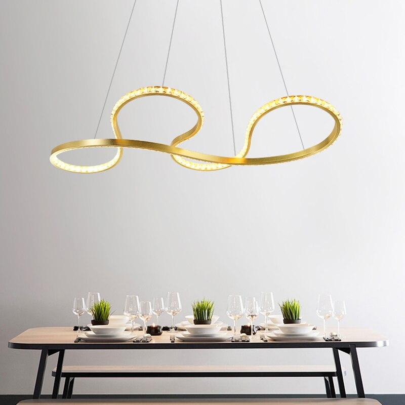En aluminium LED Moderne pendentif lumière Nouveauté éclairage pour salle à manger Intérieure hôtel Lampe foyer avec Suspendus Plafonniers