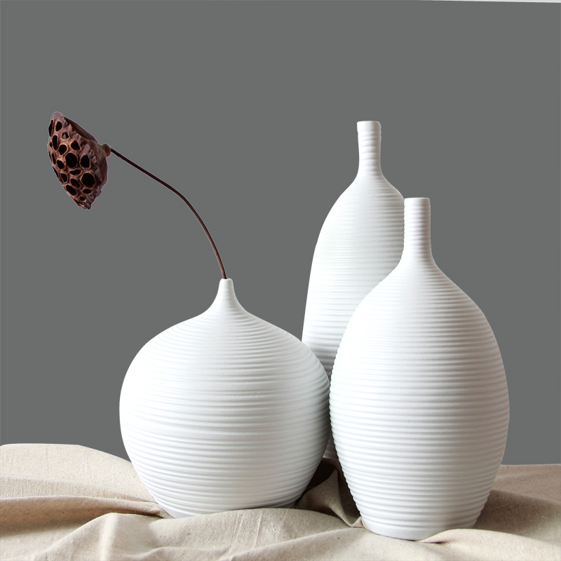 Vasi Da Tavolo.Us 219 0 Porcellana Ceramica Da Tavolo Vaso Set 3 Pz Con Il Disegno Semplice G550621free Libero In Vasi Da Casa E Giardino Su Aliexpress Com