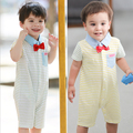 JIABI Baby Clothing Absorb Sweat BOW-TIE Comfortable Soft  Infant  Romper Short-Sleeve Ultra-Thin Male Summer Newborn Rompers