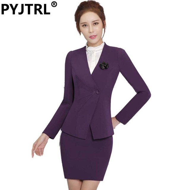 (Jacket and Skirt) Spring And Autumn New Fashion Women's Wear OL Female Business Skirt Suit Office Uniform Designs Women